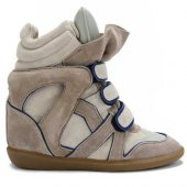 Кеды на танкетке  Sneakers Beige with Blue line, Isabel Marant вид:4