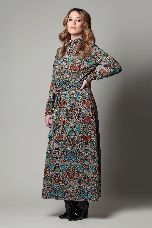 Платья в пол с длинными рукавами на каждый день