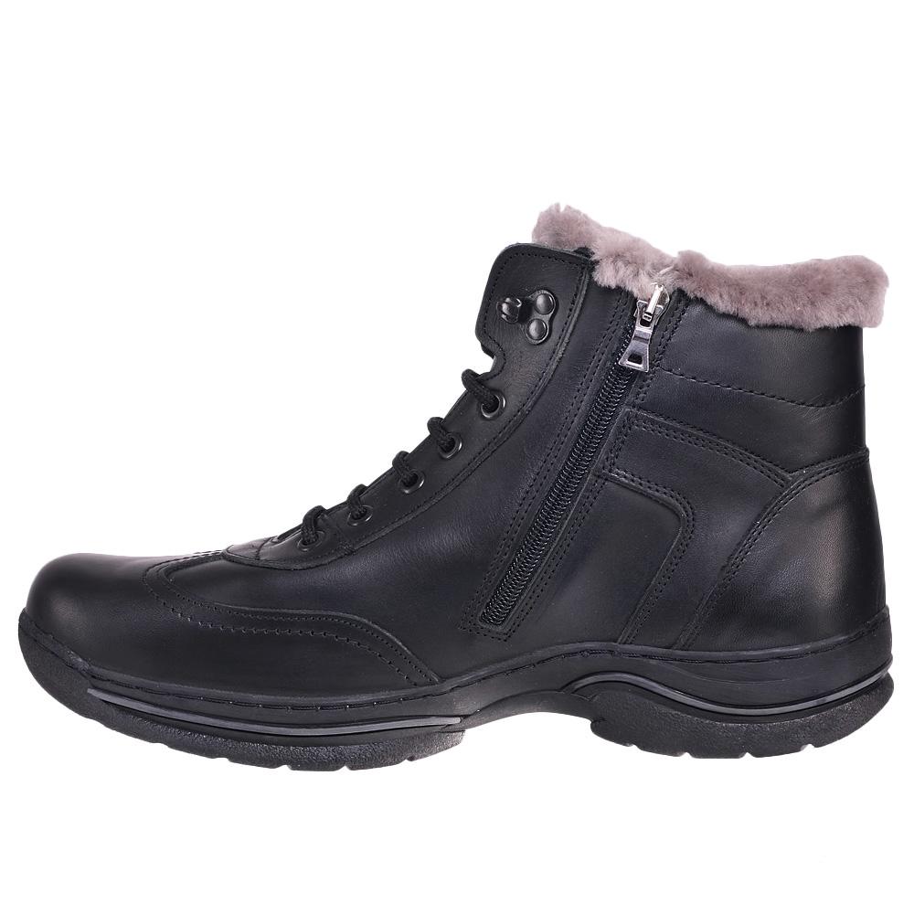 Зимние ботинки с мехом на широкую ногу