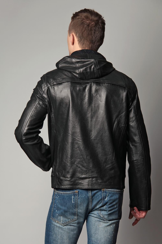 Купить Куртку Кожаную Мужскую С Капюшоном