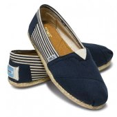 Эспадрильи University Navy Rope Sole синие, Toms вид:1