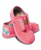 088955955a4c Слипоны детские Cordones Pink Inked Heel-Patch Tiny Toms - купить в  интернет-магазине