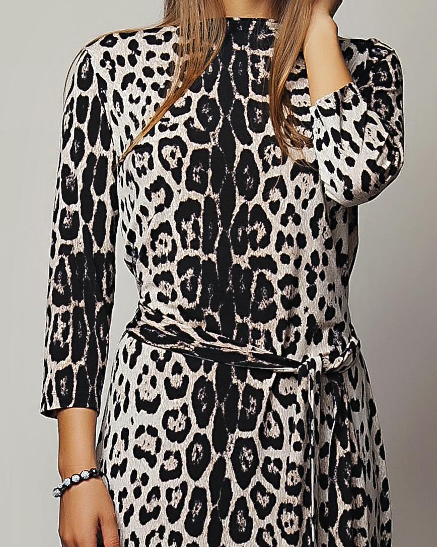 Купить Леопардовой Расцветки Платье