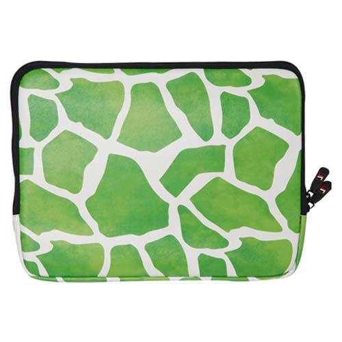 Зеленый экзотический чехол для ноутбука с бархатным подкладом оранжевого цвета.  Прекрасно защитит Ваш компьютер от...