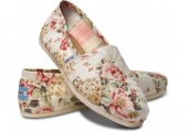 Купить Эспадрильи Classic Shabby Chic Flower Canvas Toms