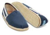 Купить Эспадрильи University Stripe  Navy Classics Toms