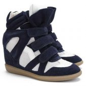 Кеды на танкетке  Sneakers Blue White, Isabel Marant вид:1