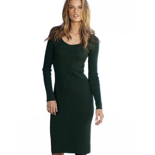 Платье зеленое с длинными рукавами Victoria's Secret в Интернет