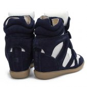 Кеды на танкетке  Sneakers Blue White, Isabel Marant вид:2