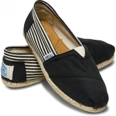 Эспадрильи University Black Rope Sole черные, Toms вид:1