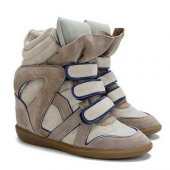 Купить Кеды на танкетке  Sneakers Beige with Blue line Isabel Marant