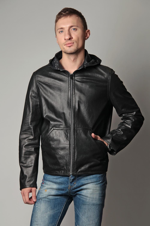 Мужская Короткая Кожаная Куртка С Капюшоном Купить