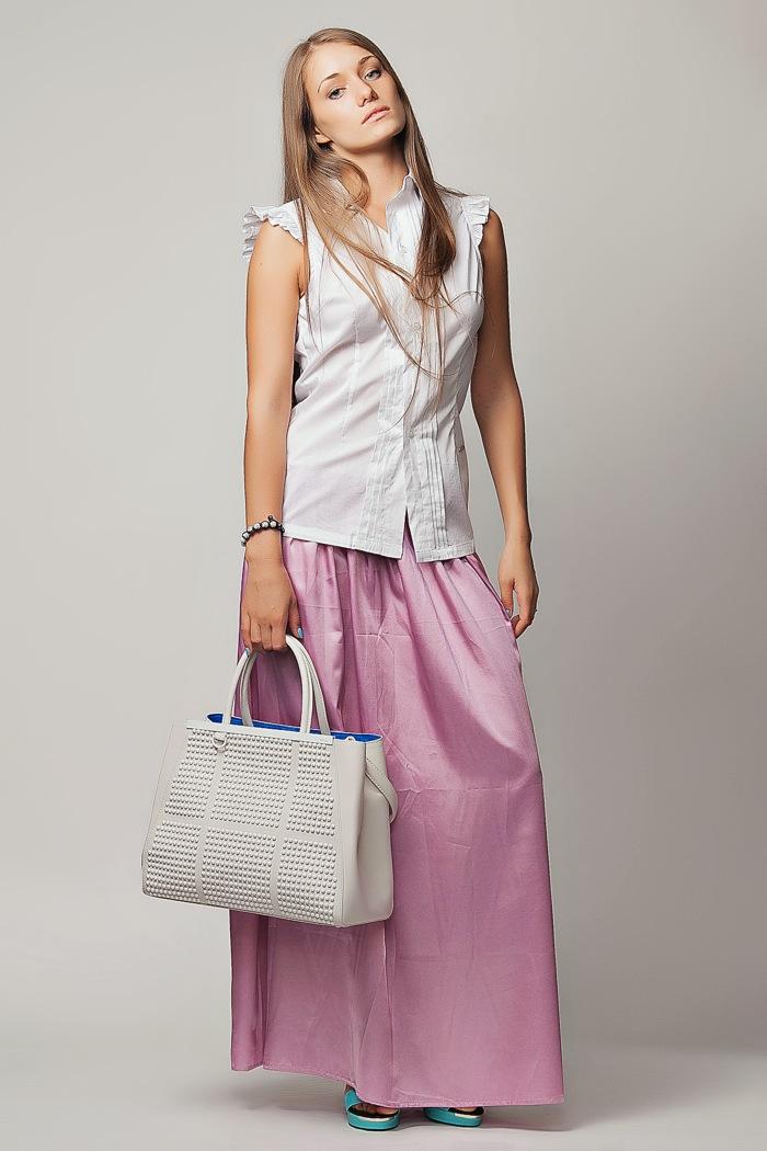 bb2f3e3a276 Длинная розовая шелковая юбка на резинке Kenzo в Интернет-магазине ...