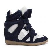 Кеды на танкетке  Sneakers Blue White, Isabel Marant вид:4